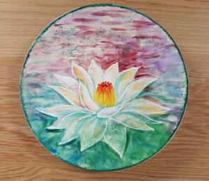 Calabasas Lotus Flower Plate